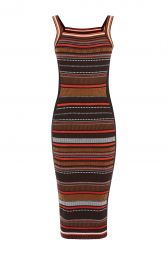 Karen Millen Texture Stripe Knit Dress at Karen Millen