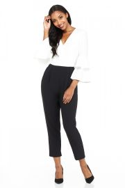 0e026aa8f99 WornOnTV  Wendy s white and black bell sleeve jumpsuit on The Wendy  Williams Show