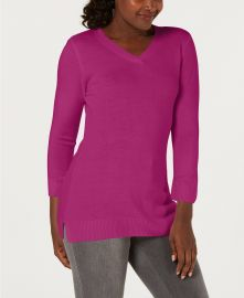 Karen Scott Vneck sweater at Macys