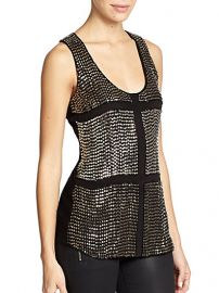 Karina Grimaldi - Lugo Beaded Silk Tank Top at Saks Fifth Avenue