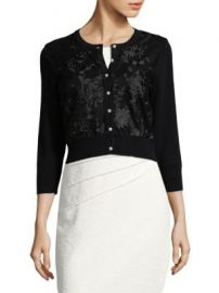 Karl Lagerfeld Paris - Embroidered Buttoned Cardigan at Saks Off 5th