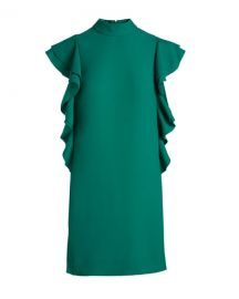 Kate Spade New York Green Flutter Sleeve Dress at Rent The Runway