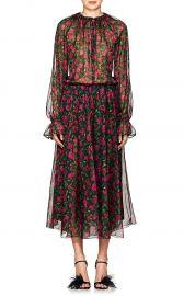 Kate Floral Silk Midi-Dress by Raquel Diniz at Barneys
