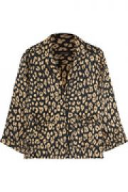 Kate Moss Lake leopard-print washed-silk pajama shirt at The Outnet