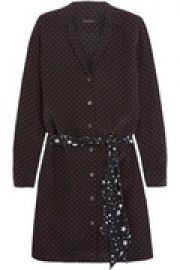 Kate Moss Rosalind printed washed-silk mini dress at The Outnet