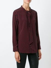 Kate Moss for Equipment heart blouse by Equipment at Farfetch