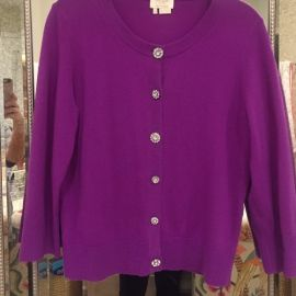 Kate Spade Jeweled Cashmere Cardigan at Poshmark