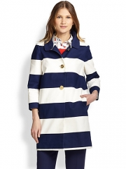 Kate Spade New York - Franny Striped Coat at Saks Fifth Avenue