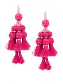 Kate Spade New York - Pretty Poms Tassel Statement Earrings at Saks Fifth Avenue