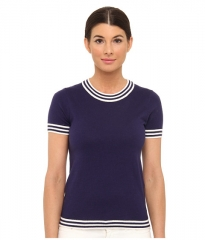 Kate Spade New York Anabela Sweater French NavyCream at Zappos