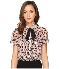 Kate Spade New York Posy Grove Chiffon Shirt Neutral at 6pm