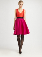 Kate Spade silk normandy dress on New Girl at Saks at Saks Fifth Avenue