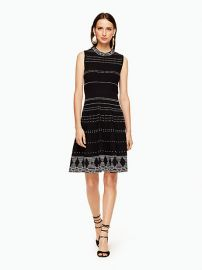 Kate Spade textured knit fit and flare dress at Kate Spade
