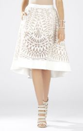Keary Burnout Lace Skirt at Bcbg