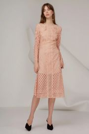 Keesake Bridges Lace Long Sleeve Dress at Fashion Bunker