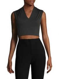 Kelis Gathered V-Neck Crop Top by Alice   Olivia at Gilt at Gilt