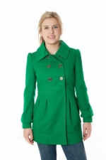 Kelly green trench coat by Tulle at Amazon