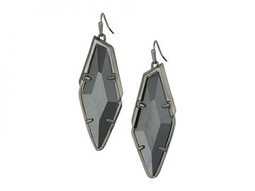 Kendra Scott Bexley Earrings Hematite Gray Hematite at Zappos