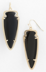 Kendra Scott Skylar Spear Statement Earrings in black at Nordstrom