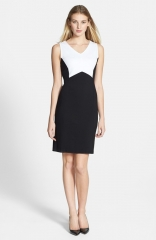 Kenneth Cole New York Andrea Colorblock Sheath Dress in white at Nordstrom
