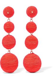 Kenneth Jay Lane Gold-plated cord earrings at Net A Porter