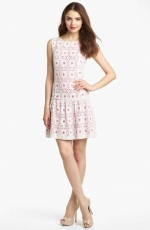 Kensie drop waist lace dress at Nordstrom