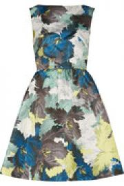 Kenya printed duchesse-satin mini dress at The Outnet