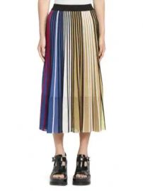 Kenzo - Colorblock Ribbed A-Line Skirt at Saks Fifth Avenue