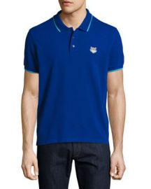 Kenzo Classic Contrast-Tip Polo Shirt   Neiman Marcus at Neiman Marcus