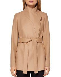 Keyla Short Wrap Coat at Bloomingdales