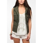 Khaki vest at Urban outfitters at Urban Outfitters