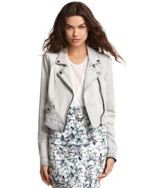 Kiind Of Light-Wash Denim Moto Jacket at Macys