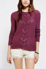 Kimchi Blue Chevron Pointelle Sweater at Urban Outfitters