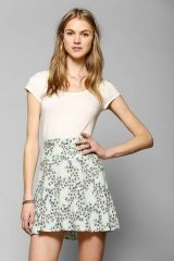 Kimchi Blue Classic Printed Skater Skirt at Urban Outfitters