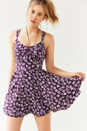 Kimchi Blue Scarlett Fit and Flare Dress in Purple at Urban Outfitters