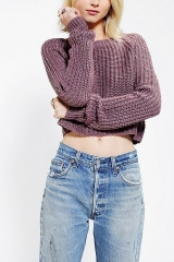 Kimchi Blue Shaker Cropped Sweater at Urban Outfitters
