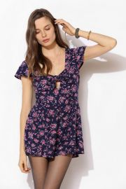 Kimchi Blue Smocked Back Romper at Urban Outfitters