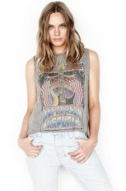 Kinzington Jefferson Airplane Vintage Crop Tank at Lauren Moshi