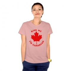 Kiss Me Im Canadian Tshirt at Zazzle