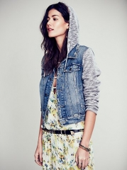 Knit Hooded Jacket at Free People