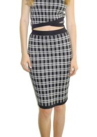 Knit Plaid Skirt at Lucy Paris