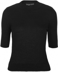Knit short sleeve top at Topshop