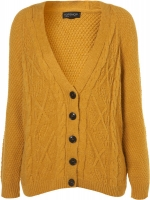 Knitted tweedy boyfriend cardigan at Topshop at Topshop