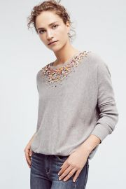 Knotted Confetti Pullover at Anthropologie