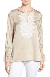 Kobi Halperin Naya Lace Trim Blouse at Nordstrom