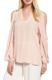 Kobi Halperin Caroline Cold Shoulder Silk Blouse at Nordstrom