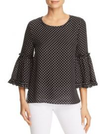 Kobi Halperin Kalea Polka-Dot Bell-Sleeve Blouse at Bloomingdales