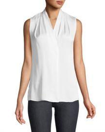Kobi Halperin Mila Silk-Stretch Sleeveless Top at Neiman Marcus