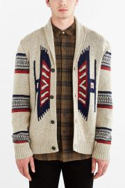 Koto Kikou Engineered Shawl Cardigan in Cream at Urban Outfitters