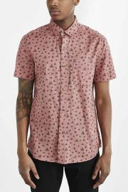 Koto Short-Sleeve Triangle Breezy Button-Down Shirt at Urban Outfitters